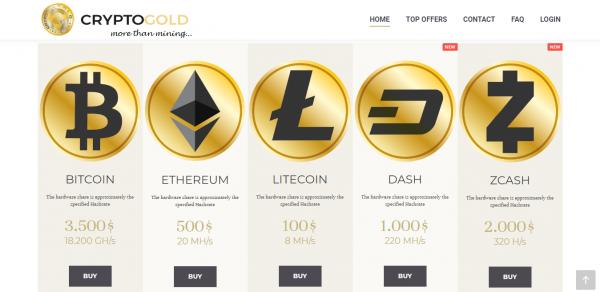 CryptoGold - portfolio