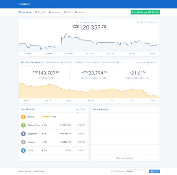Směnárna kryptoměn Coinbase