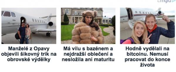 Reklamy, které propagují službu money-web.eu